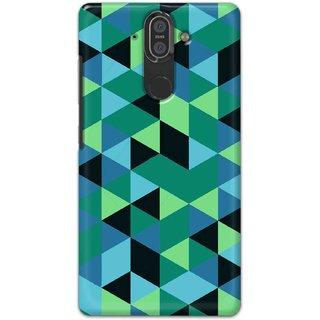 Digimate Hard Matte Printed Designer Cover Case For Nokia8Sirocco