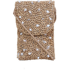 Diwaah Beige Fabric Sling Bag