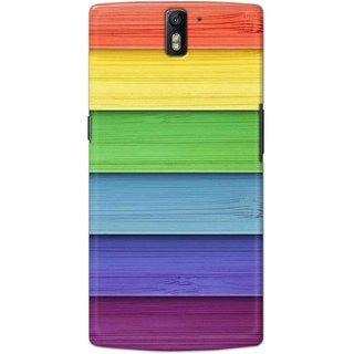 Digimate Hard Matte Printed Designer Cover Case For OnePlus1