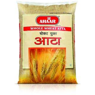 Ahaar 10 Kg Whole Wheat Chakki Fresh Atta (Chokar Yukt Atta )