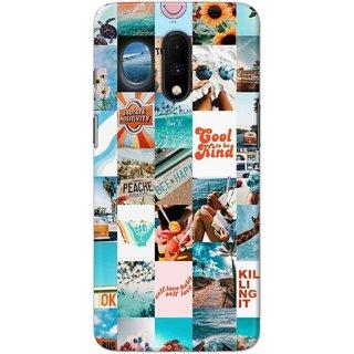 Digimate Hard Matte Printed Designer Cover Case For OnePlus7
