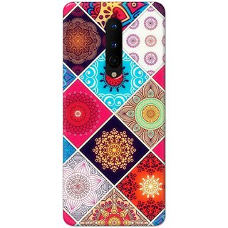 Digimate Hard Matte Printed Designer Cover Case For OnePlus8