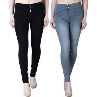 Women's Multicolour Jeans (Pack of 2)