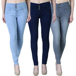 Women's Multicolour Jeans(Pack of 3)