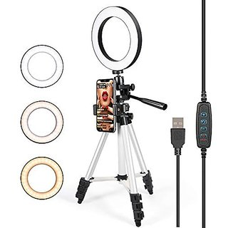 Big Selfie LED Ring Light with 3110 Portable Tripod for You Tube/Live Stream/Makeup