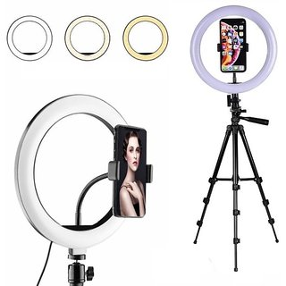 LED Selfie Ring Light with 3120 Tripod Stand Tabletop Stand  Phone Holder for Making up  YouTube