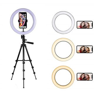 Selfie Ring Light 36 LED  with 3120 Tripod Stand and Phone Holder for Video, Photography, Shooting with 3 Light Modes