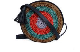 Diwaah Multicolor Jute Sling Bag