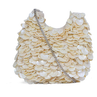 Diwaah White Fabric Sling Bag