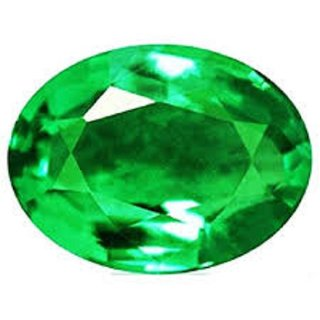 Emerald Gemstone 6.26 Ratti Natural Certified Loose Precious Green Panna Stone
