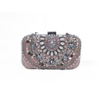 Diwaah Pink Fabric Clutches