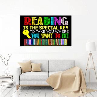Surmul Reading in Books School Boys Room Decoration Colourful Wall Sticker (Reading-35)