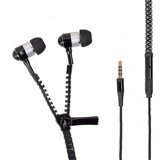 Zipper Earphone Comes with  Simple and Sorted Design  Single Navigation Button  Loud and Clear Sound