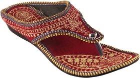 Womaniyaa fashionable Valvet flat Sandal