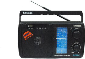 Santosh Five Band Portable FM Radio with USB Support with Remote Control (Models May Vary)