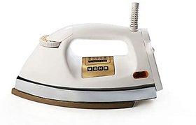 Usha EI 3710 Heavy Weight 1000-Watt Dry Iron 1.75 Kg(White)