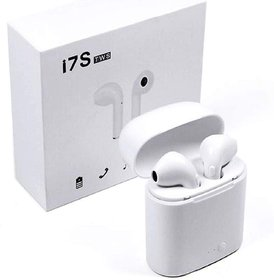 I7S Tws Wireless in the Ear Bluetooth Headset with Mic  (White)