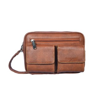 Black Bird Unisex Hand Made 5 L Synthetic Leather 10 Inch Brown and Tan and Black Messenger Bag