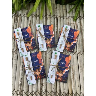 Sow and Grow Diwali Themed Plantable Diary Be The Light and Plantable Paper Pen Combo Set of 5