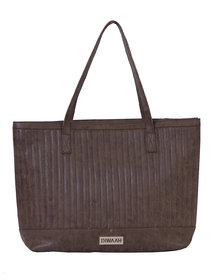 Diwaah Brown PU Handbag