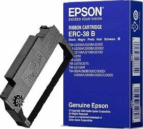 Epson ERC-38B Black Box of 10 Genuine Printer Ribbon Cartridges
