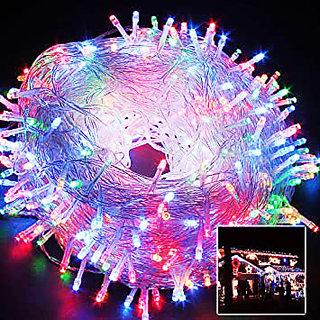 All Mix Color Light LED Copper Waterproof String Light (85 Feet or 25 Meter) Diwali Indoor Outdoor Yard (Multi Color)