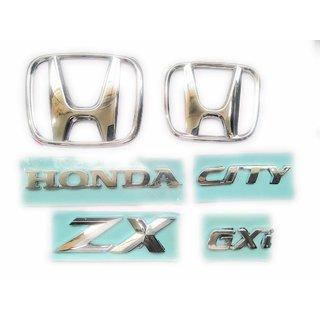 CAR Badge Emblem Monogram/Logo/Decals/Wraps/Sticker /3D for Honda City Gxi ZX Full kit