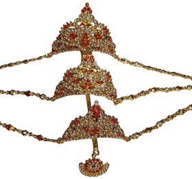 Crown Three 3 Steps Crown Free Size For Bharatanatyam Dance Performance