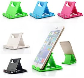 Lazywindow Set of 5 Plastic Mobile Stand For Mobile  Tablet (Assorted Colors)