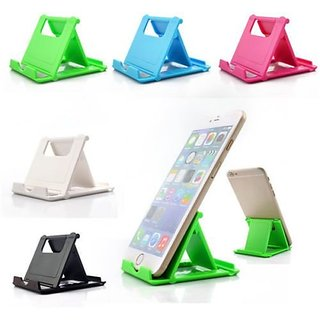 Lazywindow Plastic Mobile Stand Set of 5 (Assorted Colors)