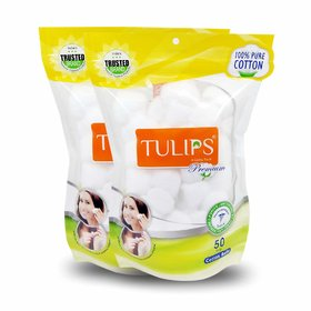 Tulips Premium Cotton Ball Pack of 2