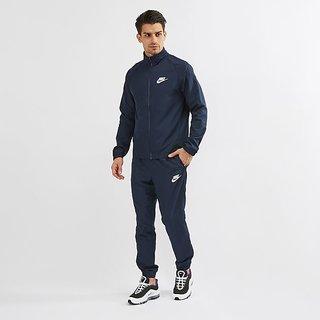 Nike Men Navy Blue Solid Standard Fit Tracksuit