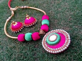 Mayank's Silk Thread Necklace Set