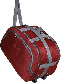 SMS BAG HOUSE (Expandable) Unisex Lightweight 55 litres Travel Duffel Bag with Two Wheels- Red