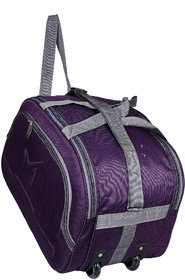 SMS BAG HOUSE (Expandable) Unisex Lightweight 55 litres Travel Duffel Bag with Two Wheels- Purple