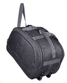 SMS BAG HOUSE (Expandable) Unisex Lightweight 55 litres Travel Duffel Bag with Two Wheels- Gray