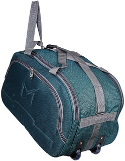 SMS BAG HOUSE (Expandable) Unisex Lightweight 55 litres Travel Duffel Bag with Two Wheels- Green