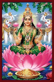 Mata Laxmi and Mata Kaali Posters print on Photographic paper, Combo (pack of 2 , size 13 BY 19 inch )