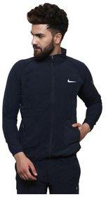 Nike Navy Polyester Terry Jacket
