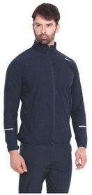 Nike Navy Polyester Lycra Jacket For Men