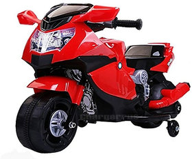Toy Home Super Racer BMW (Ninja) Battery Operated Ride On Bike With MusicHornHeadlights And 25 kg Weight Capacity -Red