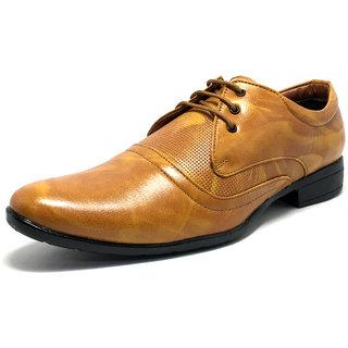Castoes Men Tan Formal Shoes