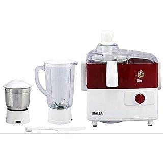 Inalsa Rio Juicer Mixer Grinder (Red & White)