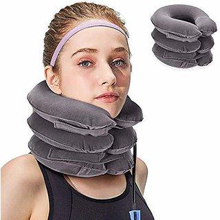 Shop Stoppers 3 Layer Pillow Velvet Neck Pillow Neck Massager for Cervical Spine-AB