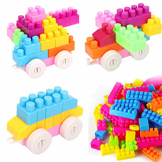 60 Pcs Building Block Toy Kids Puzzle Educational Plastic Toy