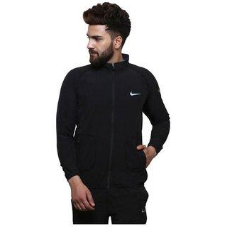 Nike Black Polyester lycra Jacket