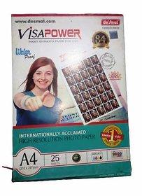 Desmat Visapower A4 Photo Paper (260gsm, 25 sheets)