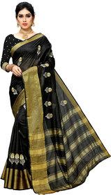 cotton silk embroiderd work saree with jequard blouse