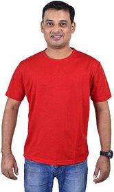 'Fiber' Rich plain Red Tshirt