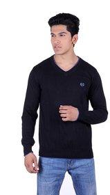 Ogarti cotton Men's V Neck Black  Sweater